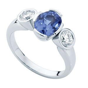 Azure Trilogy Engagement Ring