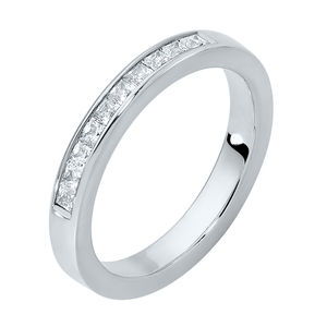 Square Channel Wedding Ring