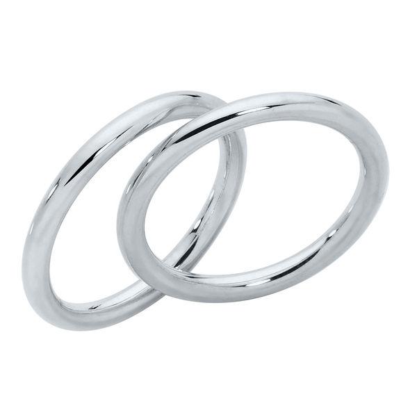 Womens Plain White Gold Wedding Ring