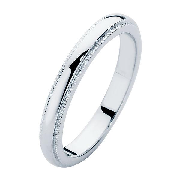 womens vintage platinum wedding ring ladies millgrain. Black Bedroom Furniture Sets. Home Design Ideas