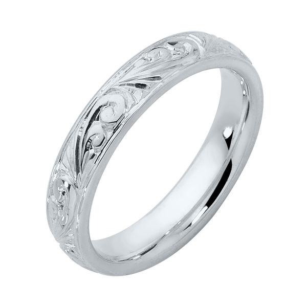 Womens Vintage White Gold Wedding Ring Inscription