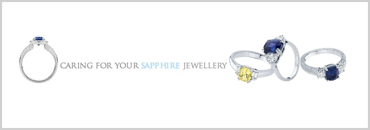Caring for sapphire jewellery
