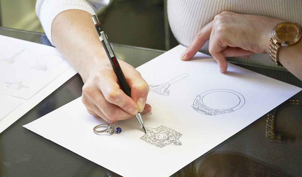 larsen jewellery design sketching