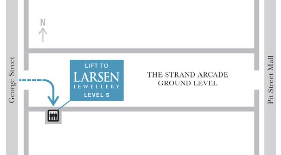 larsen jewellery map find us sydney location