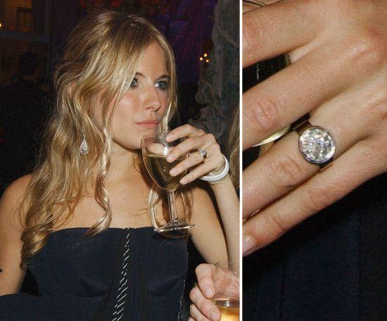 sienna miller vintage engagement ring