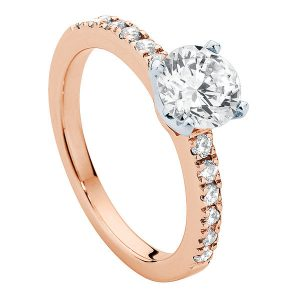 Amore Rose Gold Engagement Ring