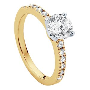 Amore Yellow Gold Engagement Ring