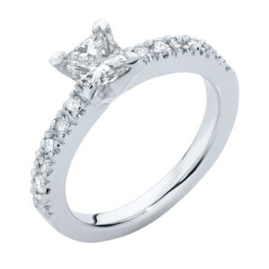 Amore Princess White Gold Engagement Ring