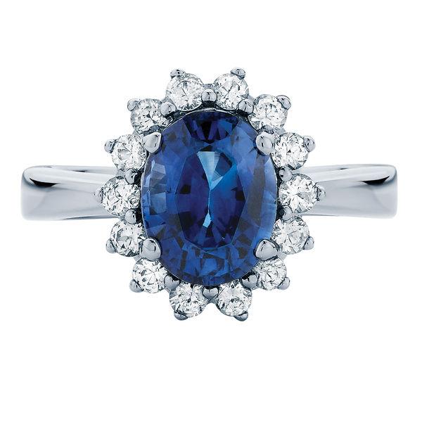 Aquarius White Gold Engagement Ring