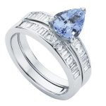Azure Platinum Engagement Ring