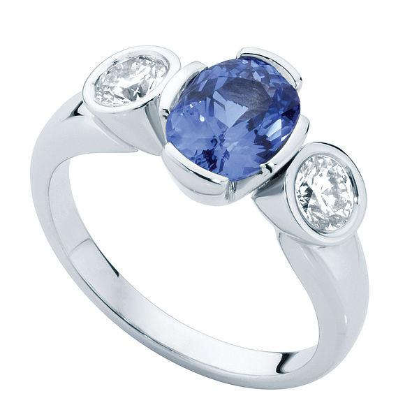 Azure Trilogy White Gold Engagement Ring