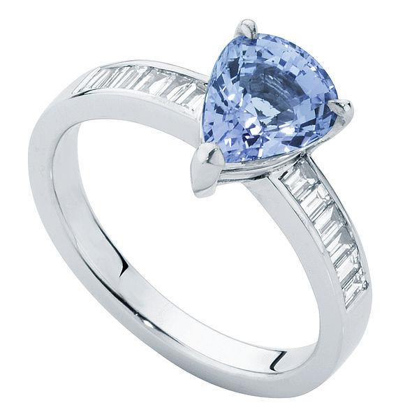 Azure White Gold Engagement Ring
