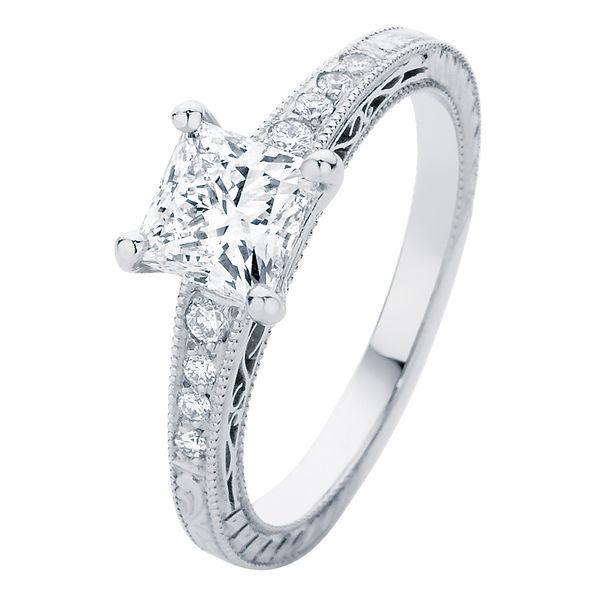Baroque Platinum Engagement Ring
