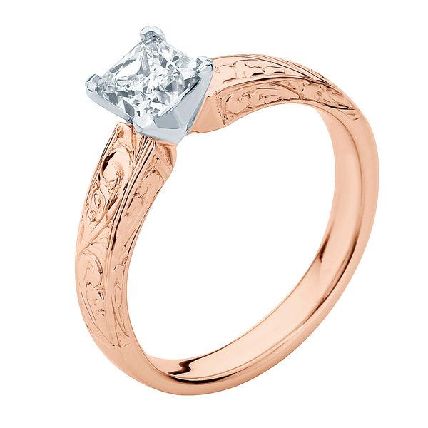 Bella Rose Gold Engagement Ring