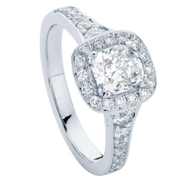 Blanco White Gold Engagement Ring