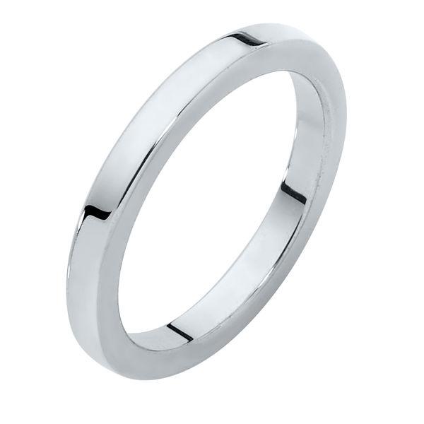 Classical Ladies Flat Platinum Wedding Ring