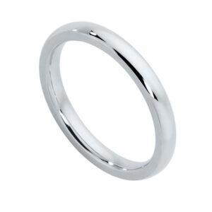 Classical Ladies White Gold Wedding Ring