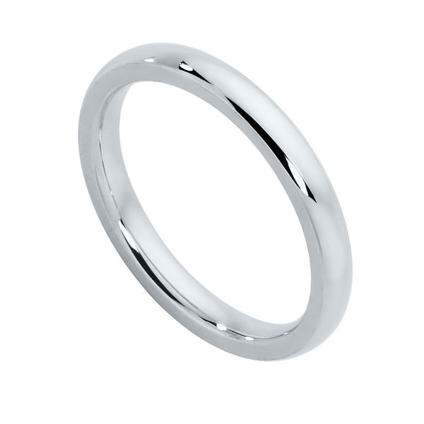 Classical Ladies White Gold Wedding Ring