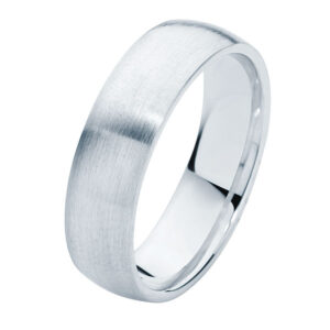 Classical Mens Matte Platinum Wedding Ring