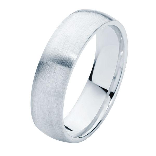 Classical Mens Matte Platinum Wedding Ring