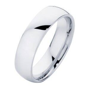 Classical Mens Platinum Wedding Ring