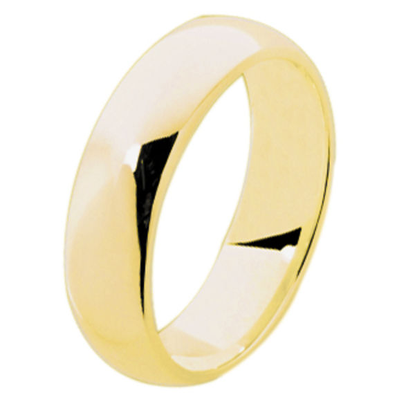 Classical Mens Yellow Gold Wedding Ring