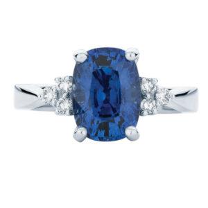 Cobalt Platinum Engagement Ring