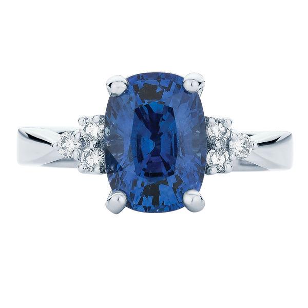 Cobalt White Gold Engagement Ring