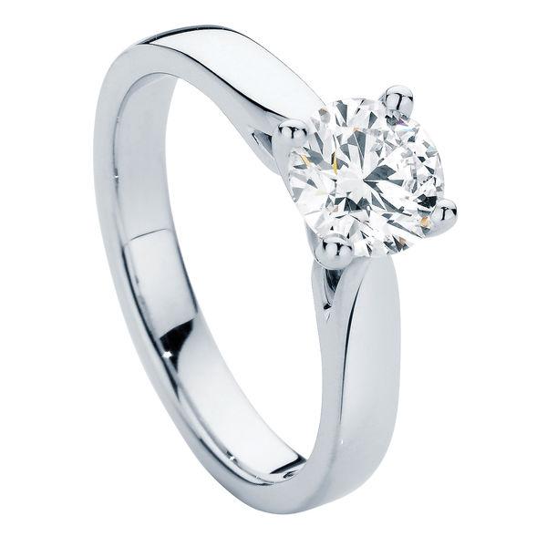 Delta Platinum Engagement Ring
