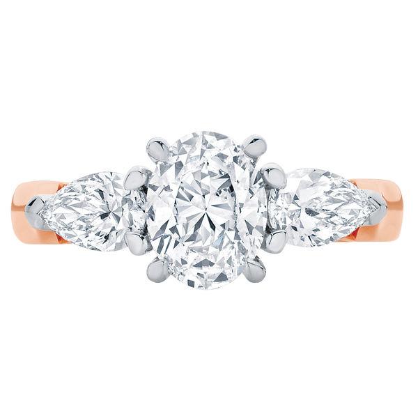 Delta Trio Rose Gold Engagement Ring