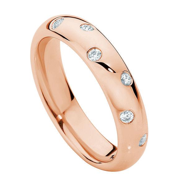 Dew Drop Rose Gold Wedding Ring