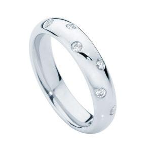 Dew Drop White Gold Wedding Ring