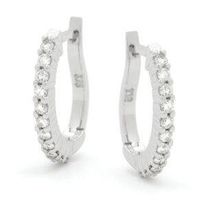 Diamond Set Hoops Earings
