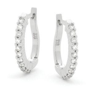 Diamond Set Hoops Earings