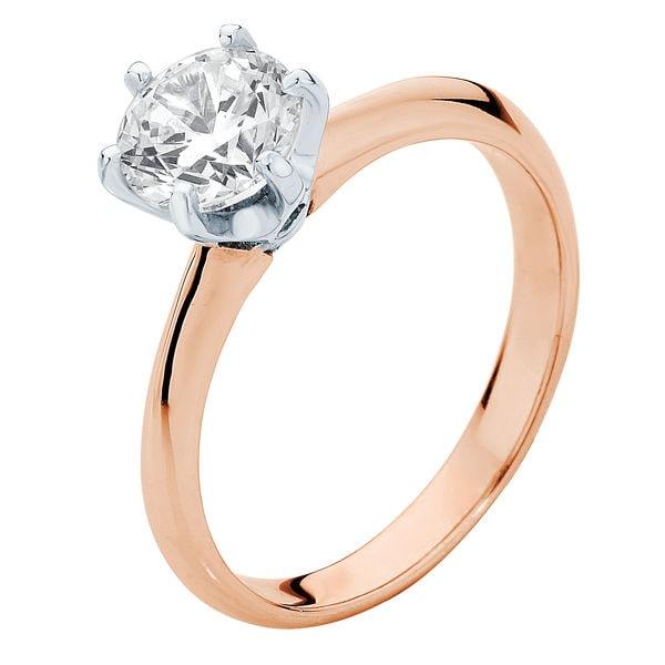 Elegance Rose Gold Engagement Ring