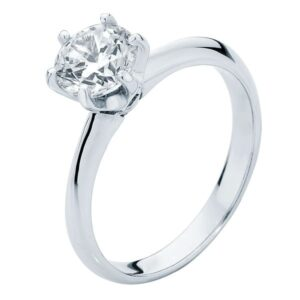 Elegance White Gold Engagement Ring
