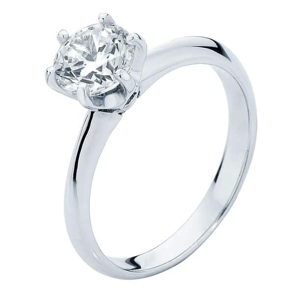 Elegance White Gold Engagement Ring