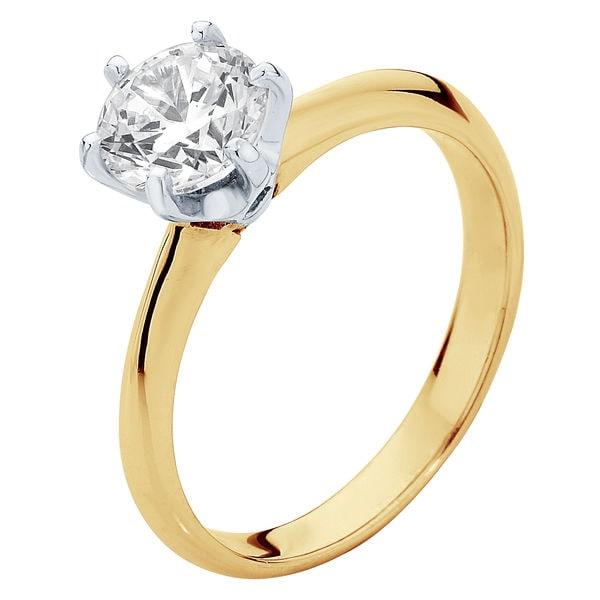 Elegance Yellow Gold Engagement Ring