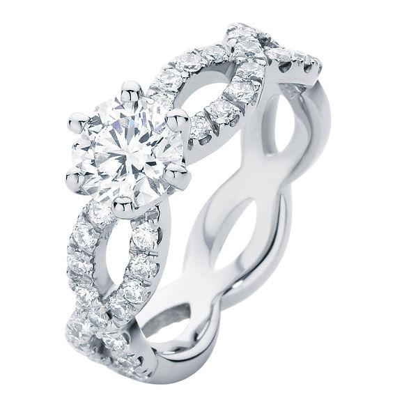Entwine Platinum Engagement Ring