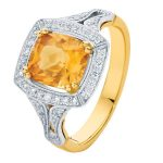Evening Light Yellow Gold Engagement Ring