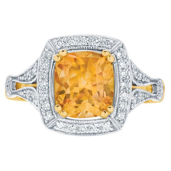 Evening Light Yellow Gold Engagement Ring