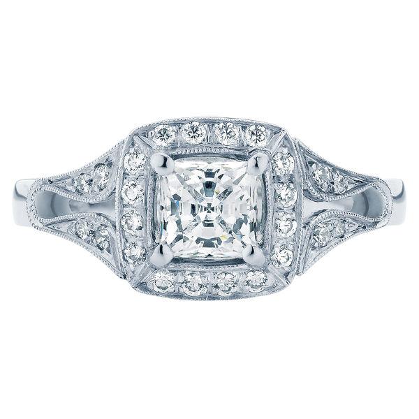 Evening Star Platinum Engagement Ring