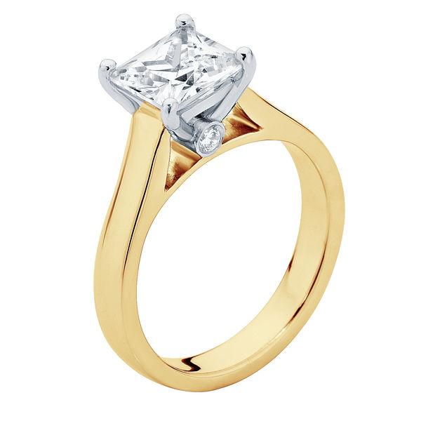 Faith Yellow Gold Engagement Ring