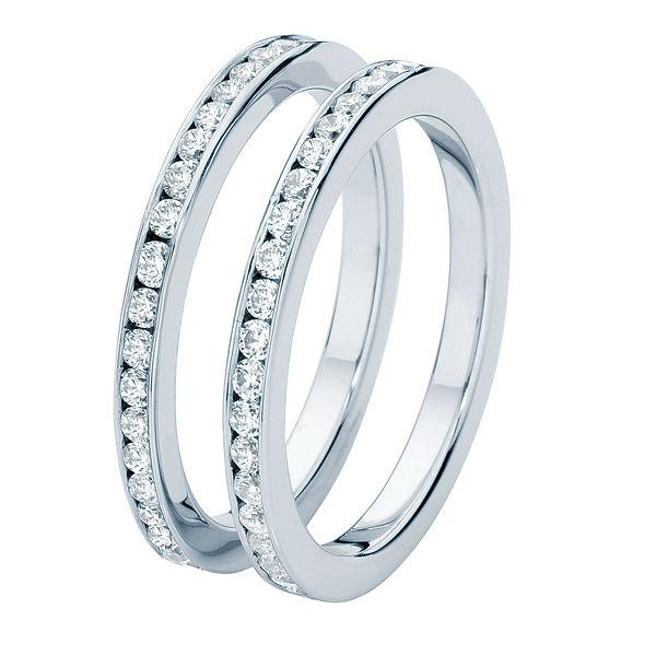 Fine Infinity Channel Platinum Wedding Ring