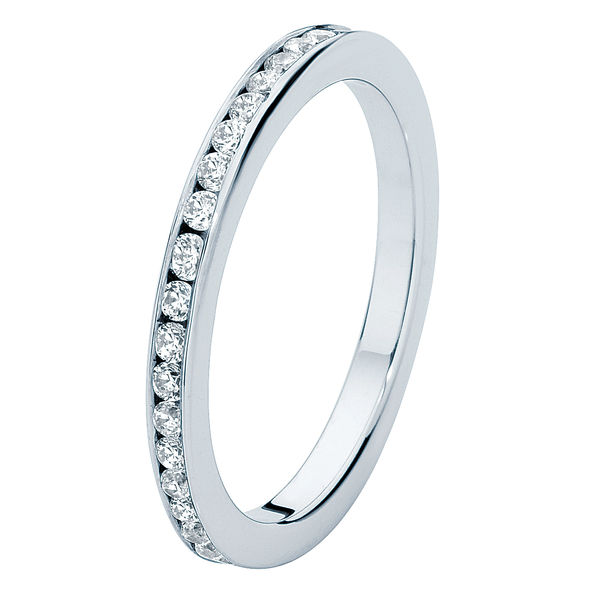 Fine Infinity Channel Platinum Wedding Ring