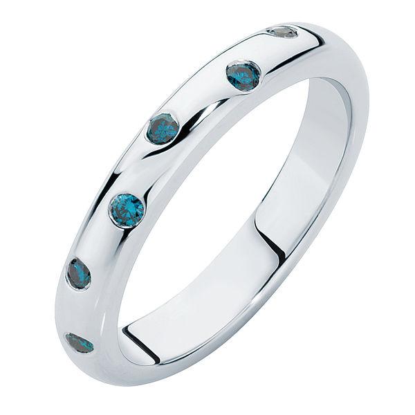 Gypsy Blue Platinum Wedding Ring