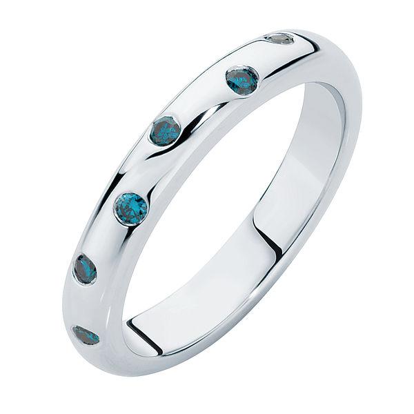 Gypsy Blue White Gold Wedding Ring