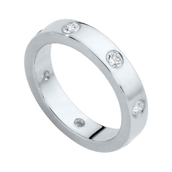 Gypsy Flat Profile Platinum Wedding Ring
