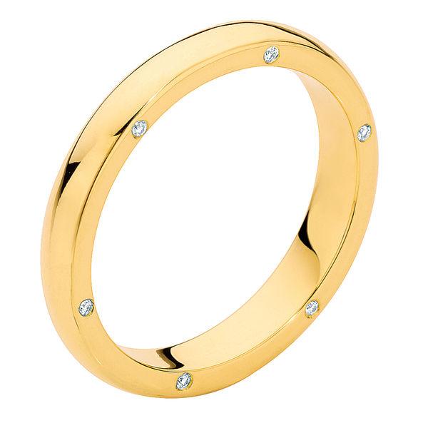 Gypsy Secret Yellow Gold Wedding Ring