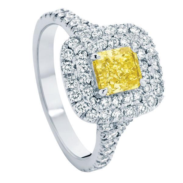 Halo Platinum Engagement Ring